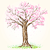 Blooming tree | Stock Vector Graphics