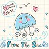 Vector clipart: jellyfish