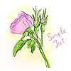 Vector clipart: wild pink rose
