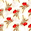 Vector clipart: Seamless roses pattern