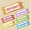 Vector clipart: Best choice labels