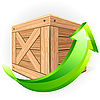 Vector clipart: Wooden box