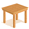 Vector clipart: Wooden table