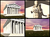 Temple of Artemis at Ephesus. 3D reconstructions | Stock Illustration
