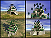 Photo 300 DPI: Hanging Gardens of Babylon. 3D reconstructions