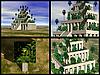 Hanging Gardens of Babylon. 3D reconstructions | Stock Illustration