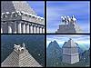 Mausoleum of Maussollos at Halicarnassus. 3D reconstructions | Stock Illustration