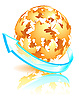 Vector clipart: autumn sphere