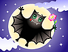Vector clipart: Cute bat