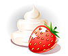 Vector clipart: Strawberry and cream