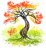 Vector clipart: Autumn tree