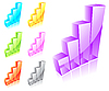Vector clipart: Set of 3d glass graphs
