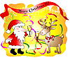Vector clipart: Christmas card