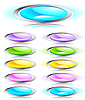 Vector clipart: Set of glass buttons