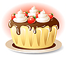Vector clipart: Tasty cake