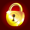 Vector clipart: Golden padlock icon