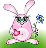 Vector clipart: Little rabbit
