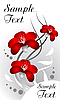 Vector clipart: Beautiful red flowers