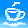 Cloudy cap of tea or coffee | Stock Vector Graphics