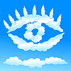 Vector clipart: Cloudy eye