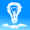Vector clipart: Cloudy bulb