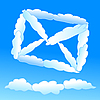 Vector clipart: Cloudy envelope