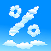 Vector clipart: Cloudy percent symbol