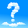 Vector clipart: Cloudy question symbol