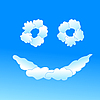 Vector clipart: Cloudy smile