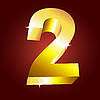 Vector clipart: golden number two