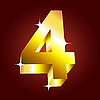 Vector clipart: golden number four