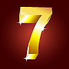 Vector clipart: golden number seven