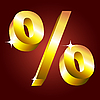 Golden percent symbol