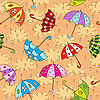 Vector clipart: umbrellas background