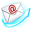 Email symbol with envelope