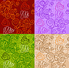 Vector clipart: Abstract seamless patterns