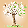 Vector clipart: Blooming tree
