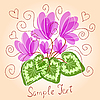 Vector clipart: Cute floral background