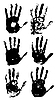 Vector clipart: Set of hand imprints