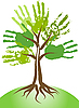 Vector clipart: Handing tree