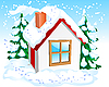 Vector clipart: Small winter house