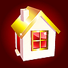 Vector clipart: Golden house icon
