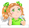 Vector clipart: Little girl