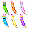 Vector clipart: Set of pencils