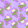 Seamless roses pattern