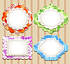 Set of cute scrapbooking frames