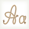 Vector clipart: Rope initial A