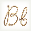 Vector clipart: Rope initial B