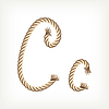 Vector clipart: Rope initial C
