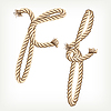 Vector clipart: Rope initial F